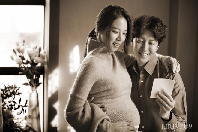 Jo Yoon Hee lần đầu công khai hình ảnh bụng bầu xinh đẹp bên chồng Lee Dong Gun - Ảnh 1.