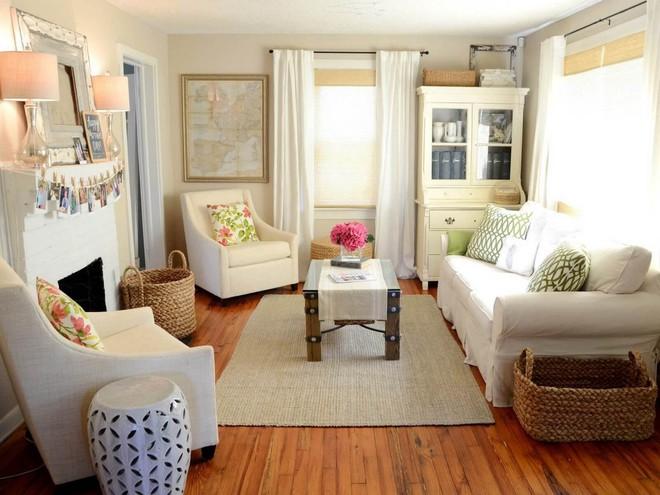Làm thế nào để bài trí phòng khách nhỏ vỏn vẹn 10m² thành không gian đẹp? - Ảnh 2.