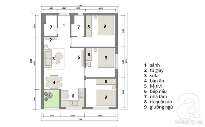 Tư vấn bố trí nội thất căn hộ 67m² với tổng chi phí chưa đến 80 triệu cho chàng trai 23 tuổi độc thân - Ảnh 2.