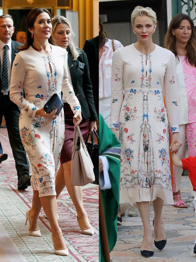 Trước khi trở thành người một nhà, công nương Kate và công nương tương lai Meghan Markle đã có màn đụng hàng váy áo thú vị - Ảnh 2.