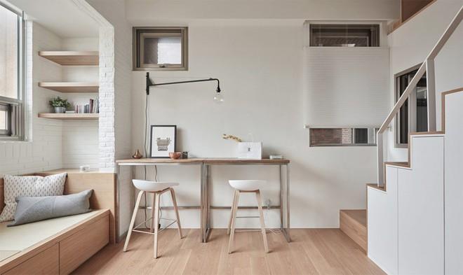 Căn hộ có gác xép có tổng diện tích chỉ 22m² đẹp không kém những căn hộ sang chảnh - Ảnh 1.