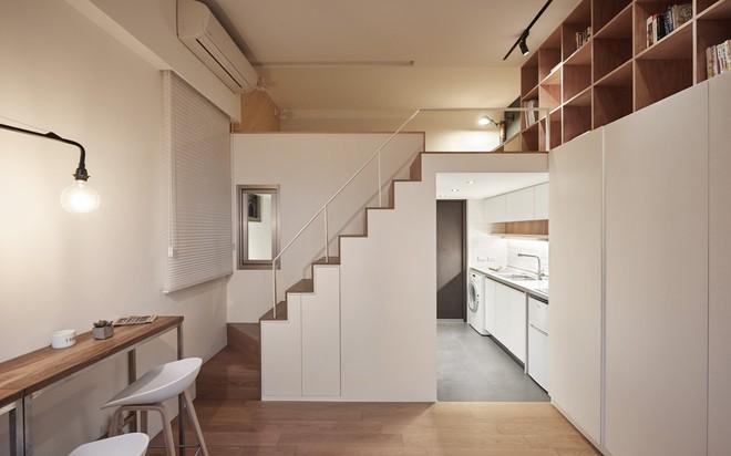 Căn hộ có gác xép có tổng diện tích chỉ 22m² đẹp không kém những căn hộ sang chảnh - Ảnh 2.