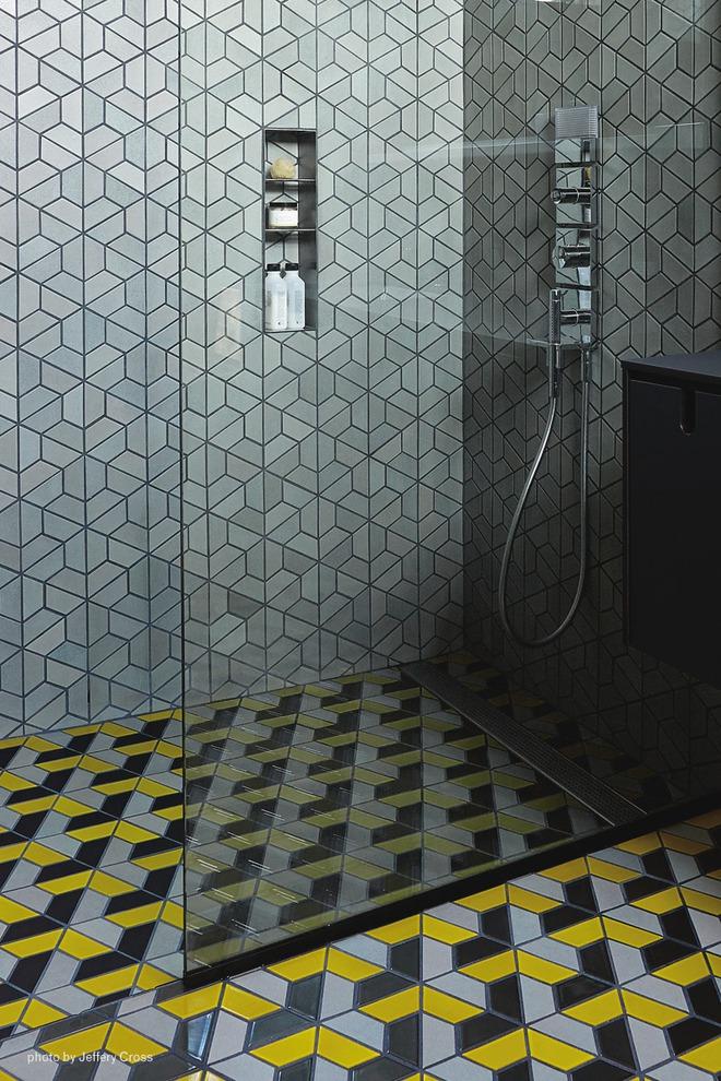 6 cách chọn lựa chất liệu lát phòng tắm giúp tăng hiệu ứng thị giác - Ảnh 11.