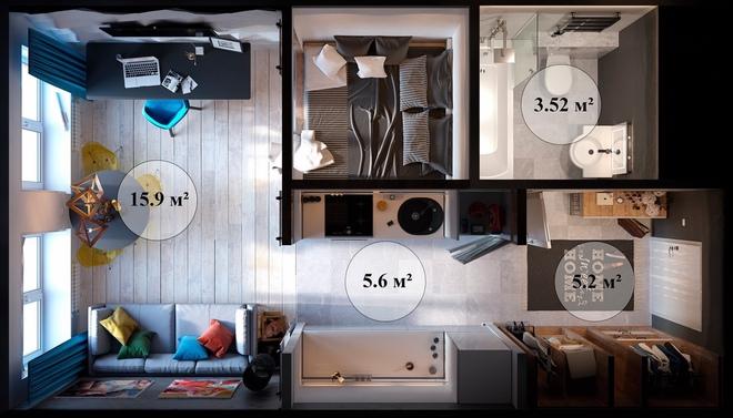 Ấn tượng với thiết kế của căn hộ vỏn vẹn 30m² có những gam màu trang trí vô cùng bắt mắt - Ảnh 11.