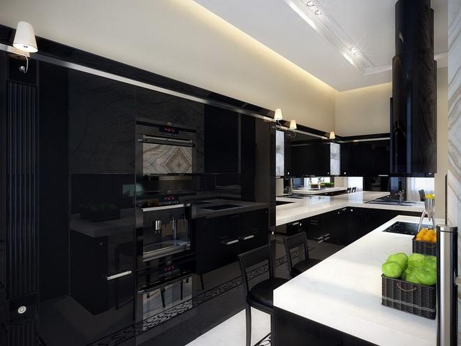 Ngắm hoài không chán 16 căn bếp vượt thời gian với gam màu đen – trắng - Ảnh 10.
