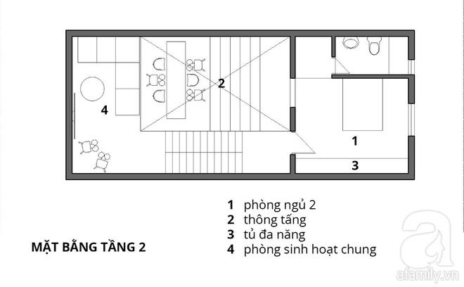 Với 1.5 tỷ đồng, KTS đã hoàn thiện căn nhà ống 3.5 tầng với tổng diện tích gần 300m² - Ảnh 3.