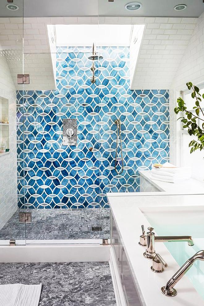 6 cách chọn lựa chất liệu lát phòng tắm giúp tăng hiệu ứng thị giác - Ảnh 12.