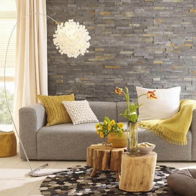 Những ý tưởng trang trí phòng khách với cặp đôi không bao giờ lỗi mốt: vàng - xám - Ảnh 13.