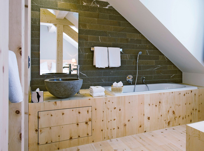 14 mẫu nhà tắm gác mái chỉ cần nhìn qua đã thấy ưng mắt - Ảnh 13.