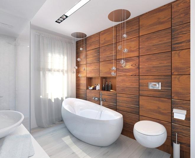 Những nhà tắm bằng gỗ chỉ liếc mắt trông qua cũng đủ khiến bạn xao xuyến - Ảnh 14.
