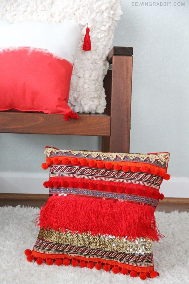 Trang trí phòng khách với gối tựa lưng bằng len siêu đẹp - Ảnh 14.