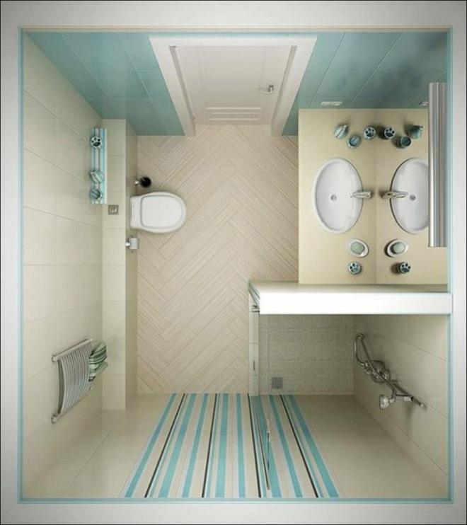 Những lời khuyên thông minh cho nhà tắm diện tích nhỏ thêm tiện dụng  - Ảnh 3.