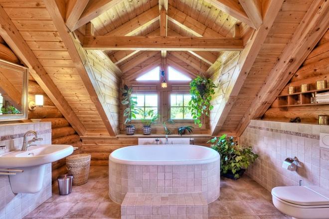 Những nhà tắm bằng gỗ chỉ liếc mắt trông qua cũng đủ khiến bạn xao xuyến - Ảnh 3.