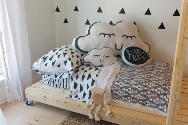 Trang trí đơn giản nhưng siêu đáng yêu, đây chính là phòng ngủ khiến mọi đứa trẻ mê tít - Ảnh 4.