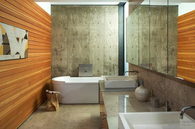 Những nhà tắm bằng gỗ chỉ liếc mắt trông qua cũng đủ khiến bạn xao xuyến - Ảnh 4.