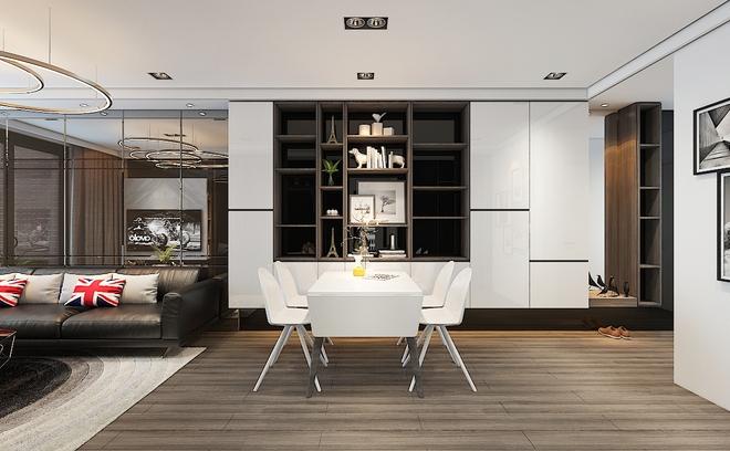 Tư vấn bố trí nội thất cho căn hộ 64m² từ vô số những nhược điểm thành không gian sống đáng mơ ước - Ảnh 4.