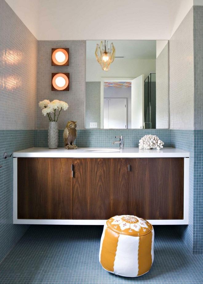Nhìn ngắm vẻ đẹp khiến tim bạn rụng rời của những mẫu phòng tắm mang phong cách Midcentury - Ảnh 4.