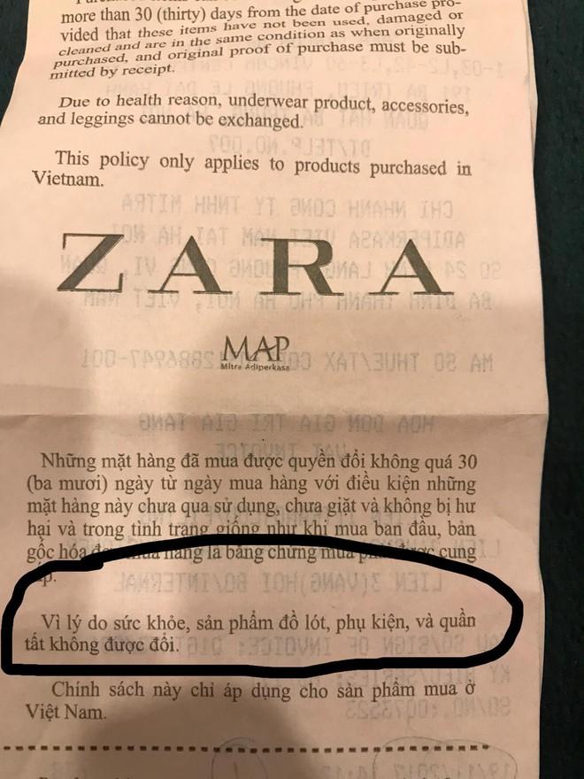 Không được đổi quần legging vừa mua, khách hàng tố Zara Hà Nội lừa đảo - Ảnh 4.