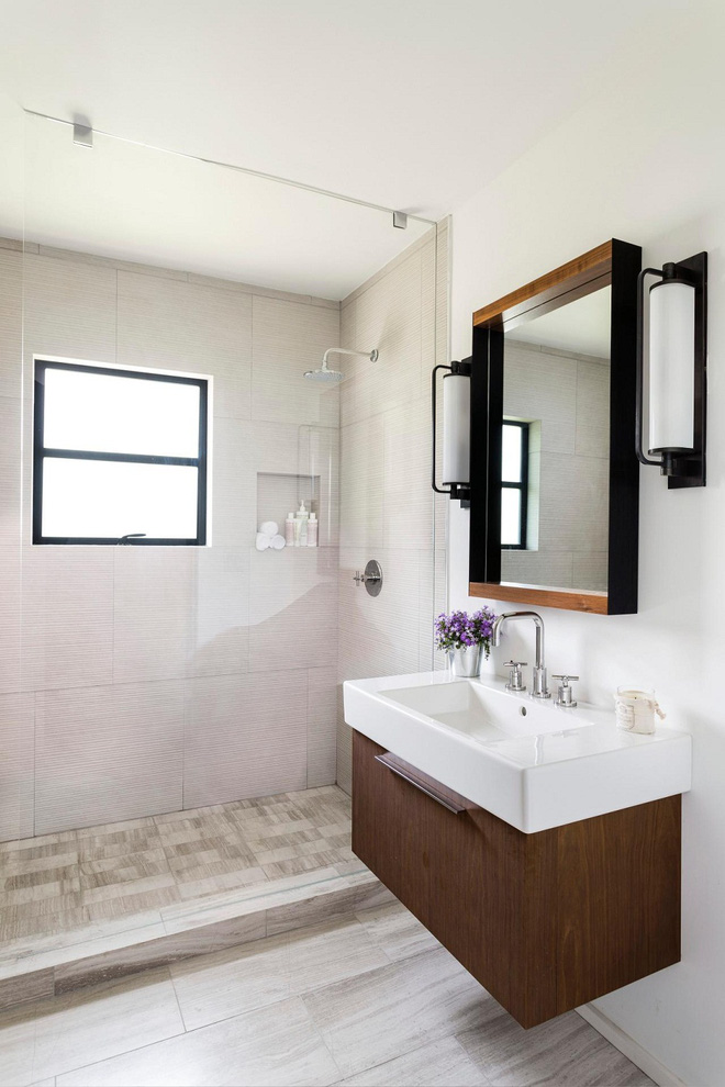 Nhìn ngắm vẻ đẹp khiến tim bạn rụng rời của những mẫu phòng tắm mang phong cách Midcentury - Ảnh 5.