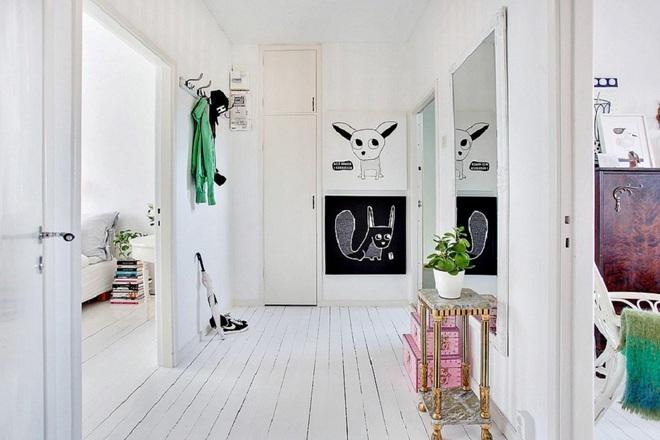 Những thiết kế sảnh căn hộ đậm màu phong cách Bắc Âu - Ảnh 5.