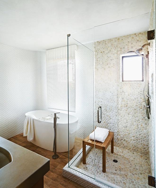 6 cách chọn lựa chất liệu lát phòng tắm giúp tăng hiệu ứng thị giác - Ảnh 6.