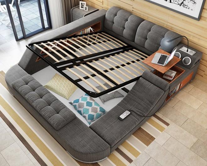 Có chiếc giường đa năng chất thế này thì chỉ muốn nằm lì cả ngày để tận hưởng - Ảnh 9.