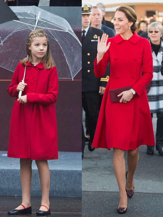 Trước khi trở thành người một nhà, công nương Kate và công nương tương lai Meghan Markle đã có màn đụng hàng váy áo thú vị - Ảnh 6.