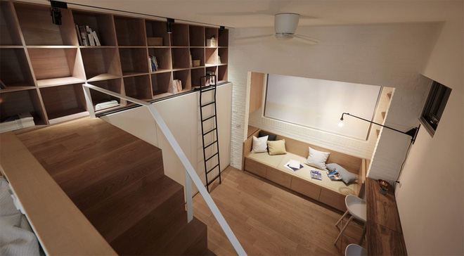 Căn hộ có gác xép có tổng diện tích chỉ 22m² đẹp không kém những căn hộ sang chảnh - Ảnh 6.