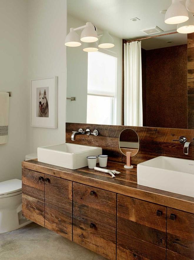Những nhà tắm bằng gỗ chỉ liếc mắt trông qua cũng đủ khiến bạn xao xuyến - Ảnh 7.