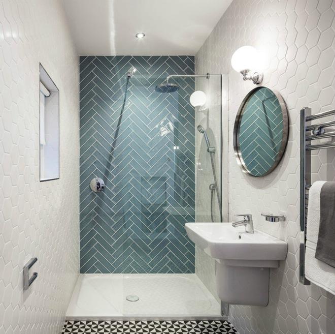 6 cách chọn lựa chất liệu lát phòng tắm giúp tăng hiệu ứng thị giác - Ảnh 7.