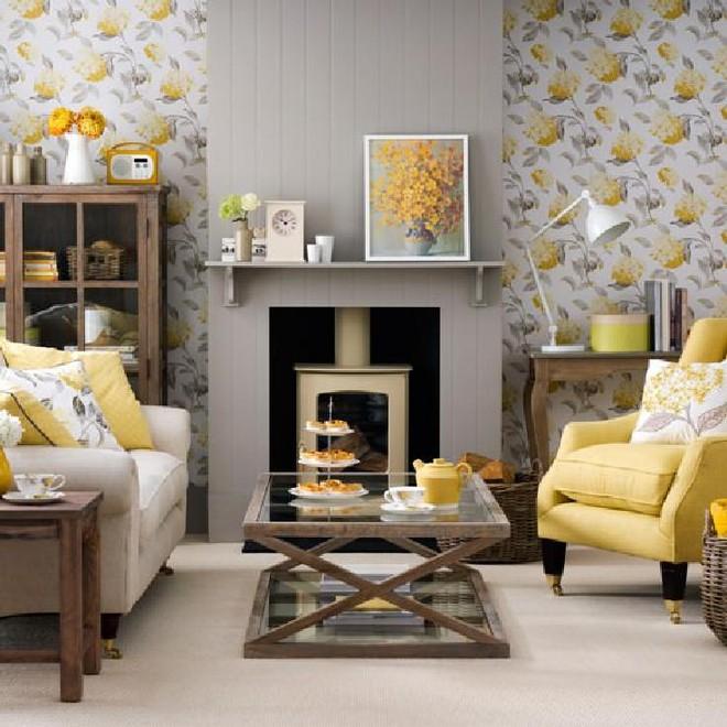Những ý tưởng trang trí phòng khách với cặp đôi không bao giờ lỗi mốt: vàng - xám - Ảnh 7.