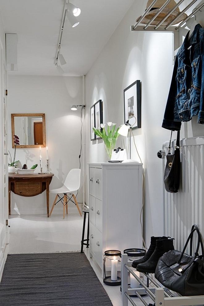Những thiết kế sảnh căn hộ đậm màu phong cách Bắc Âu - Ảnh 7.