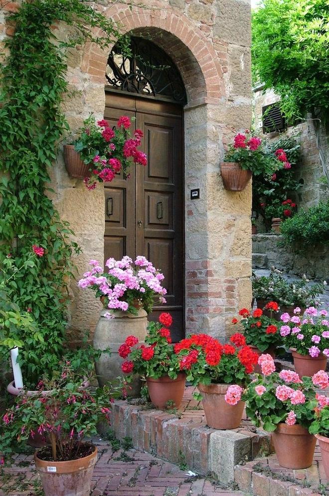 Muôn kiểu cửa nhà có hoa khiến ai ai đi qua cũng phải ngoái nhìn - Ảnh 7.