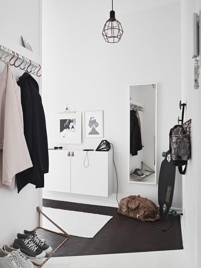 Những thiết kế sảnh căn hộ đậm màu phong cách Bắc Âu - Ảnh 8.