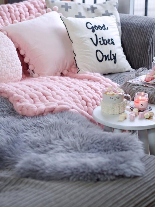 Trang trí phòng khách với gối tựa lưng bằng len siêu đẹp - Ảnh 9.
