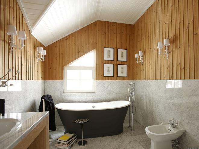 14 mẫu nhà tắm gác mái chỉ cần nhìn qua đã thấy ưng mắt - Ảnh 9.