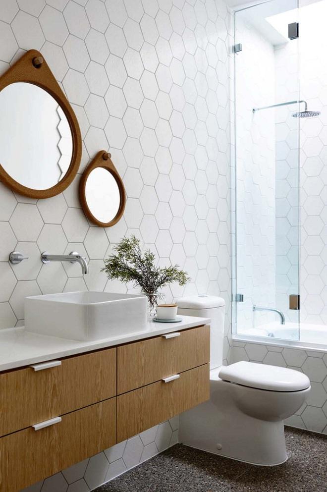 Nhìn ngắm vẻ đẹp khiến tim bạn rụng rời của những mẫu phòng tắm mang phong cách Midcentury - Ảnh 10.