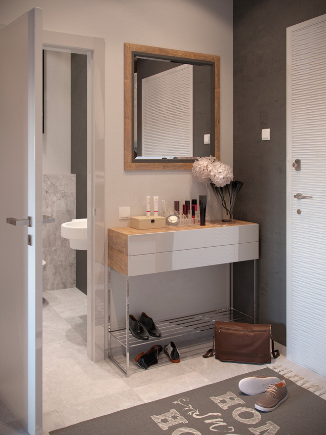 Ấn tượng với thiết kế của căn hộ vỏn vẹn 30m² có những gam màu trang trí vô cùng bắt mắt - Ảnh 10.