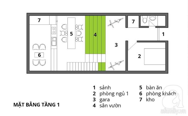 Với 1.5 tỷ đồng, KTS đã hoàn thiện căn nhà ống 3.5 tầng với tổng diện tích gần 300m² - Ảnh 2.
