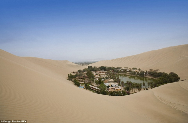 Unbelievable: In the midst of the arid desert there is a beautiful oasis in this desert - Picture 1.