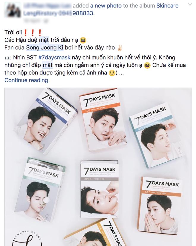 Nhờ sự kiện hot mà mặt nạ 7 ngày của Song Joong Ki lại bán đắt hàng như tôm tươi  - Ảnh 1.