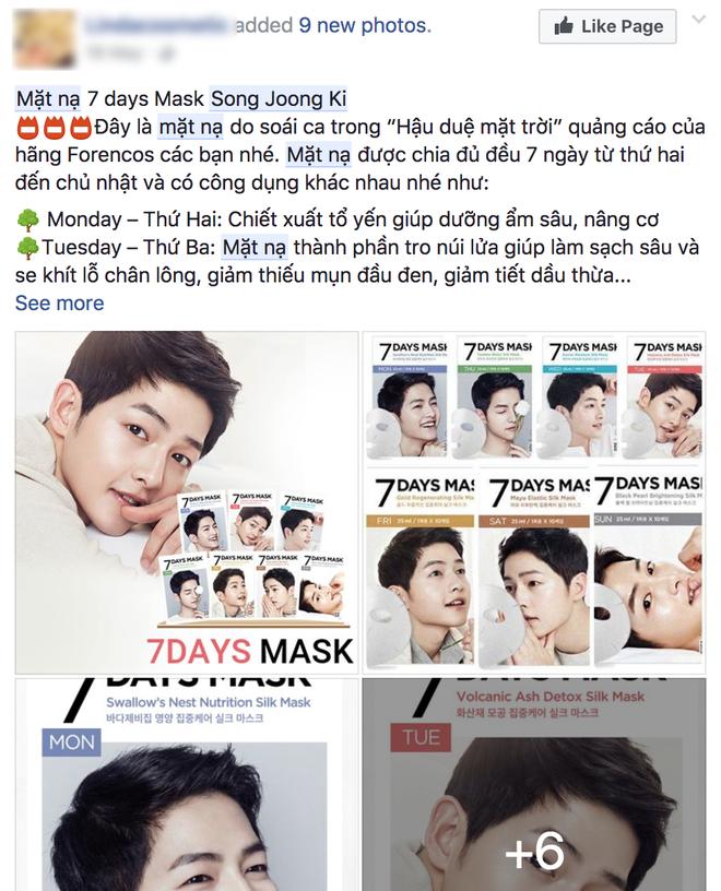 Nhờ sự kiện hot mà mặt nạ 7 ngày của Song Joong Ki lại bán đắt hàng như tôm tươi  - Ảnh 2.
