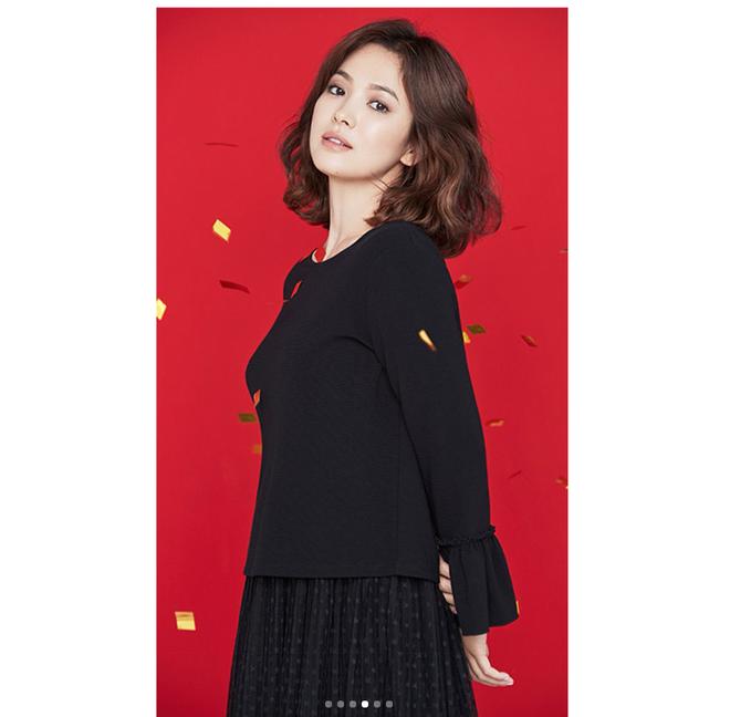 Thực hiện bộ ảnh thời trang cận kề ngày cưới, Song Hye Kyo bỗng tròn đầy hơn hẳn sau nghi vấn bầu bí - Ảnh 4.