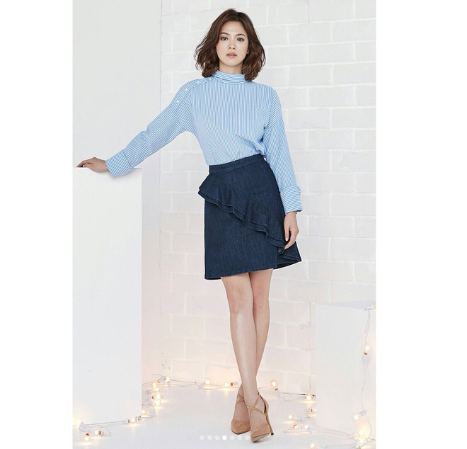 Thực hiện bộ ảnh thời trang cận kề ngày cưới, Song Hye Kyo bỗng tròn đầy hơn hẳn sau nghi vấn bầu bí - Ảnh 11.