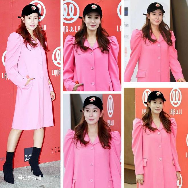 Chị hai của Những nàng công chúa nổi tiếng 42 tuổi vẫn diện đầm hồng choét tham dự Tuần lễ thời trang Seoul  - Ảnh 2.