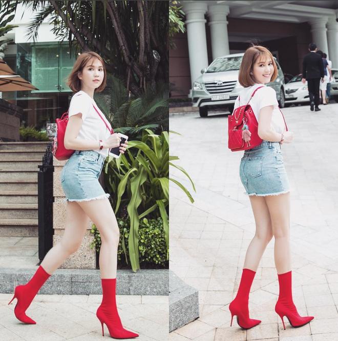 Cả Ngọc Trinh và Kỳ Duyên đều đang bị đôi boots đỏ này mê hoặc - Ảnh 1.