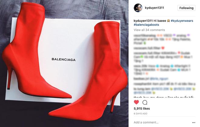 Cả Ngọc Trinh và Kỳ Duyên đều đang bị đôi boots đỏ này mê hoặc - Ảnh 2.