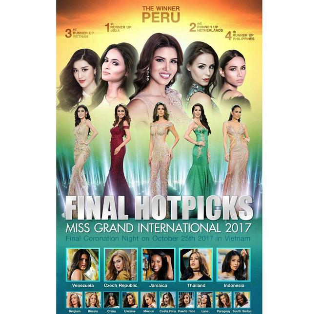 Miss Grand International: Chưa đến chung kết mà đã tràn ngập hình dự đoán đại diện Peru đăng quang - Ảnh 2.