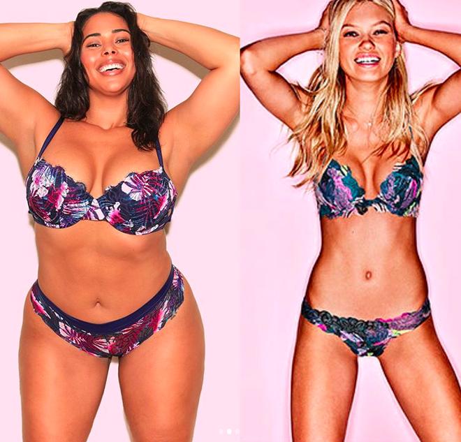 Sẽ thế nào nếu một cô nàng ngoại cỡ mô phỏng lại những thiết kế nội y nóng bỏng của Victorias Secret - Ảnh 2.