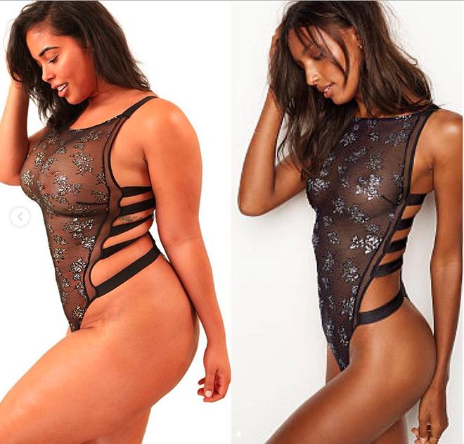 Sẽ thế nào nếu một cô nàng ngoại cỡ mô phỏng lại những thiết kế nội y nóng bỏng của Victorias Secret - Ảnh 3.